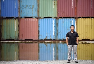 Syn Hee Container Services, Kuala Lumpur, Malaysia. Interviewpartner: Depot Manager Tan Han Leng (Mr. Tan). Foto: Oliver Lang